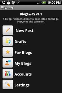 Blogaway - клиент для сервиса блогов Blogger