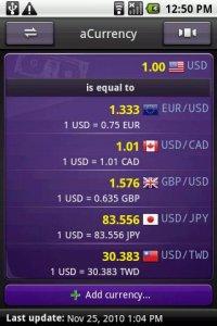 aCurrency - курсы более 160-ти валют мира