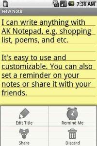 AK Notepad - заметки с напоминанием