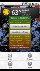 Battery Indicator - отображение в области уведомлений заряда аккумулятора