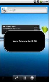 Check Balance - отображение баланса счета прямо на рабочем столе смартфона
