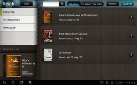 MyLibrary - приложение-библиотека на планшете