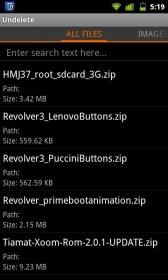 Undelete Beta - восстановление удаленных файлов с карты памяти