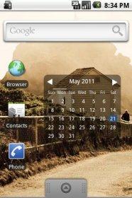 Month Calendar Widget - красивый и легкий календарь-виджет