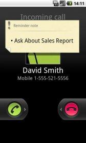 Call Reminder Notes - напоминание темы разговора во время вызова