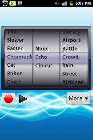 Best Voice Changer - изменение голоса и наложения дополнительных фоновых звуков
