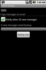 Cloud backup and cloud text - копирование контактов, сообщений, заметок и напоминаний на e-mail и обратно