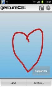 Gesture Call Donate - звонки жестом