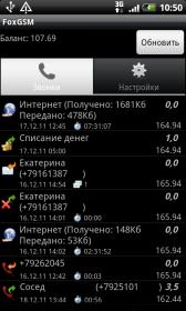 FoxGSM - менеджер Интернет трафика, звонков, SMS и ussd баланс