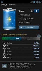 BatteryXL - оптимизация и продление работы смартфона от батареи