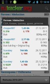 ruTracker Client - приложение для скчування торрент-файлов rutracker.org