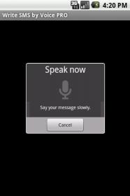 Write SMS by Voice - текстовая запись вашей речи для sms