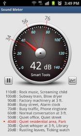 Sound Meter Pro - определение силы вибрации и шума
