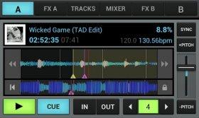 aDJ Pro - виртуальный пульт DJ с возможностью записи композиции