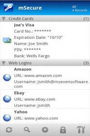mSecure - Password Manager - мощная защита ваших паролей