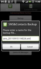 Super Backup: SMS & Contacts - создание резервных копий логов звонков, контактов, сообщений