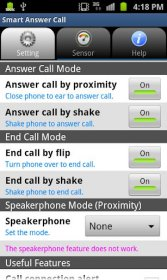 Smart Answer Call - встряхните для завершения и ответа на вызов