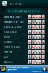PokerGuide - демонстрация комбинаций в покере