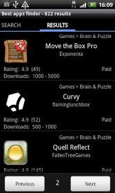 Delicious market beta - расширенный фильтр сортировки Google Play