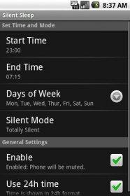 Silent Sleep - автоматическое управление звуком по заданным параметрам