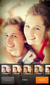 Cymera - приложение для художественного фотографирования лица