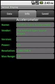 Sensor Display - настройка и тестирование датчиков девайса
