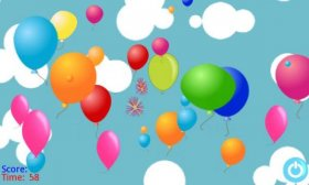 Mad Balloons - лопаем шары на время