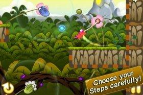 Munch Time - помогите хамелеону добраться до червя