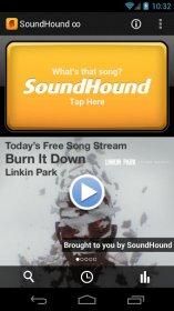 SoundHound - поиск полной версии песни по отрывку