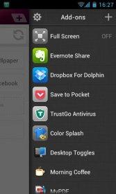 Dolphin Browser - достойный конкурент стандартному браузеру